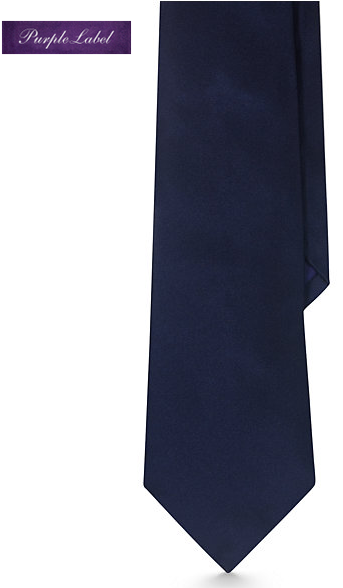 A tie by Purple Label of Ralph Lauren