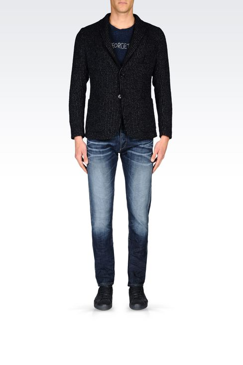 SLIM FIT JACKET IN BOUCLÉ by Armani Jeans