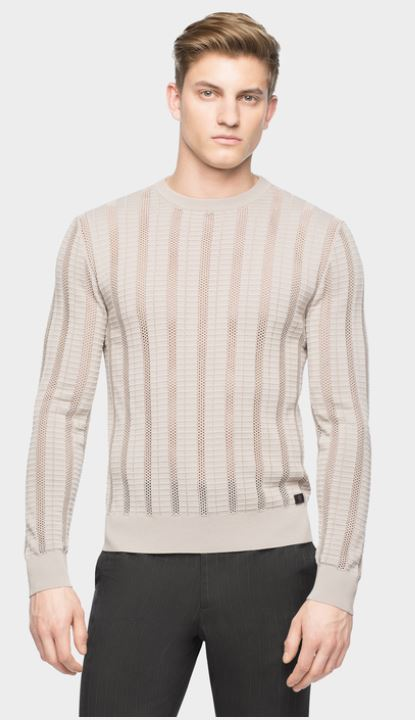 Medusa patch mesh ribbed sweater by Versace