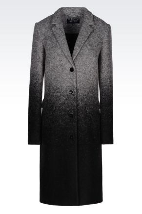 COAT IN BOILED WOOL by ARMANI JEANS