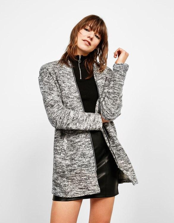 Bershka - Collared bomber-style coat
