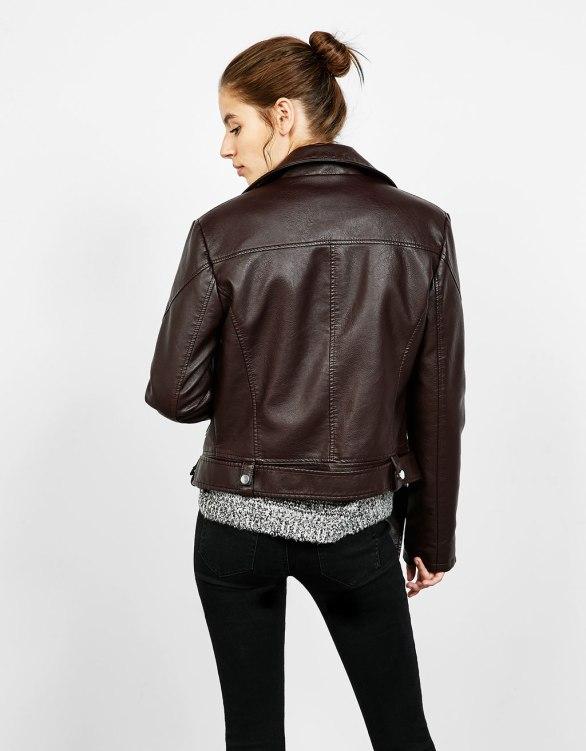Bershka - Leather-effect biker jacket