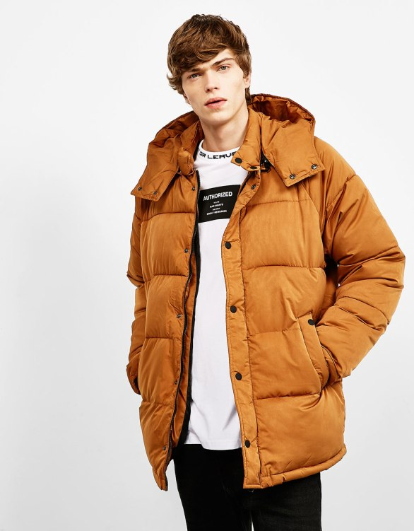 Bershka - Quilted feather down jacket
