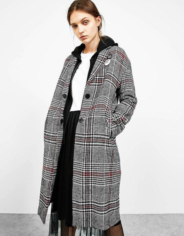Bershka - Grunge tartan coat