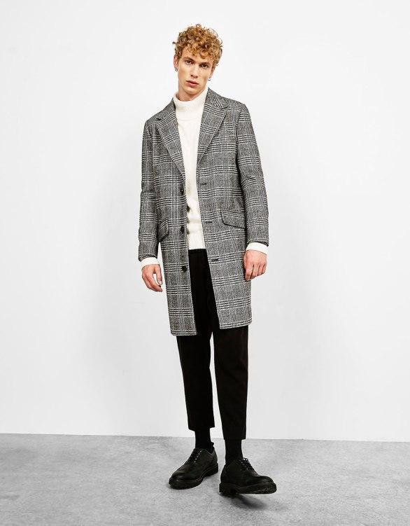 Bershka - Checked cloth coat
