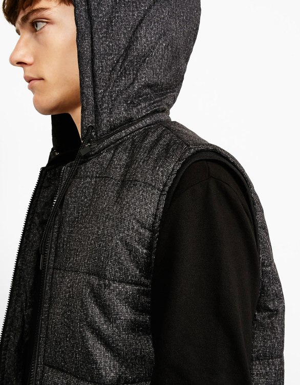 Bershka - Hooded quilted vest