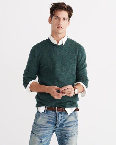 Green Sweater by of Abercrombie & Fitch