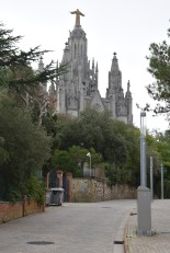 Road To Sagrat Cor Church and the Park of Tibidabo