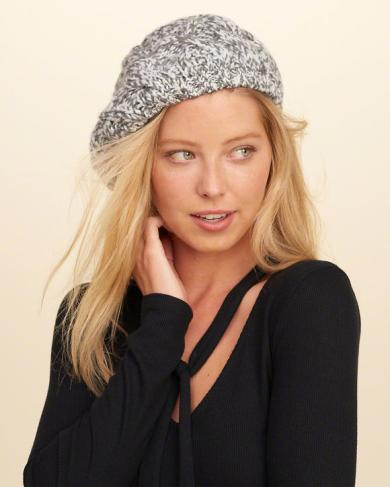 Cable Knit Beret by HOLLISTER