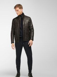 BROWN NAPPA LEATHER JACKET