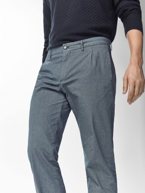 CHINOS WITH CHECKED DETAIL