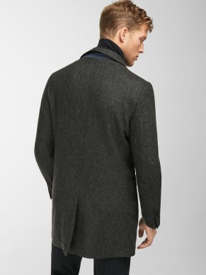 GREY TEXTURED WEAVE SMART COAT