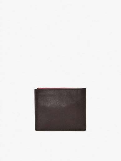 LEATHER WALLET WITH CONTRASTING INNER