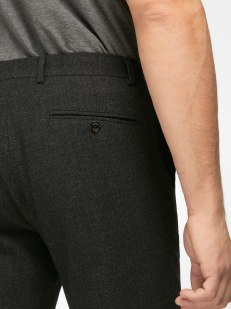 LIGHTWEIGHT WOOLCOTTON TEXTURED WEAVE TROUSERS
