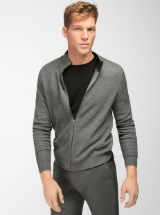 TEXTURED WEAVE DESIGN CARDIGAN